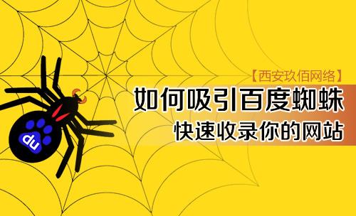 如何吸引百度蜘蛛快速收录你的网站?